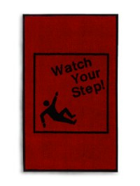 "3' x 5' Safety Mat - ""Watch Your Step"""