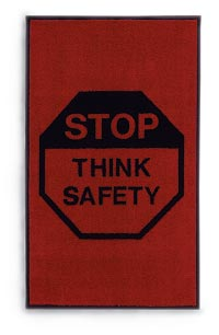 "3' x 5' Safety Mat - ""Stop/Think"""