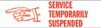 Service Temporarily Suspended Rubber Stamp