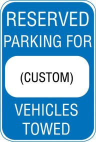 "12X18 RESERVED PARKING FOR ""CUSTOM"""