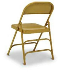 Steel Folding Chair with Extra Back Brace