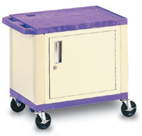 "26""H Plastic Utility Cart with Cabinet"