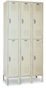 "12""W x 12""D x 30""H Two Tier 1 Wide Lockers"