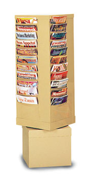 44 Pocket Rotary Con-Tur Literature Rack