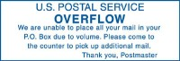U.S.P.S. Overflow We Are Unable