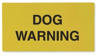 Carrier Dog Warning Cards
