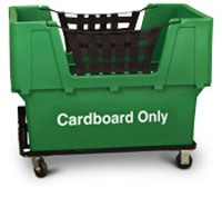 "Green Container Truck - ""Cardboard Only"""