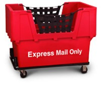 "Red Container Truck, ""Express Mail Only"""