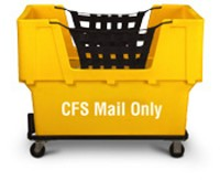 "Yellow Container Truck, ""CFS Mail Only"""