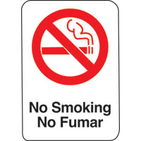 6X9 INTN'L SYMBOL SIGN-NO SMOKING/NO FUM