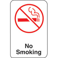 6X9 INTN'L SYMBOL SIGN-NO SMOKING