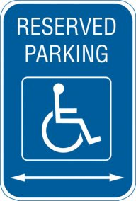 "12"" x 18"" Reserved Parking Sign"