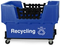 "Blue Container Truck - ""Recycling"""