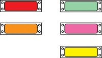 "1"" Flourescent Pinfeed Labels"