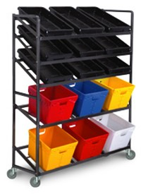 6 Tub, 9 Tray Transport Cart