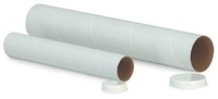 "2"" x 24"" White Mailing Tubes (Bundle of 25)"