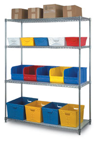 "48""W Steel Shelving - 4 Shelves"