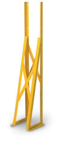 Yellow Time Clock Stand