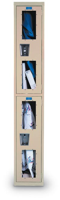 "Safety View Locker - 1 Wide/Single Tier, 18"" deep"