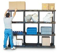 "HDPE Shelving System Add-on Unit - 96"" x 36"" x 24"""