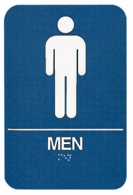 ADA Compliant Signs, Men Restroom