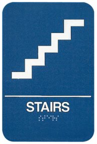 ADA Compliant Signs, Stairs