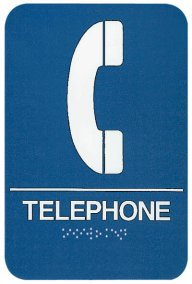 ADA Compliant Signs, Telephone