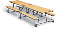 8' Cafeteria Bench Table