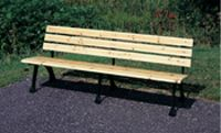 4' Outdoor Wooden Bench