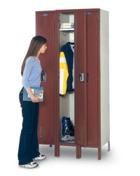 "Single Tier Premium Lockers - 12"" x 18"" x 78"""