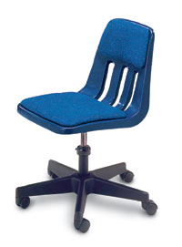 Padded Plastic Office Chair