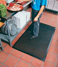 "36"" x 240"" Non-Slip Anti-Fatigue Mats, Black"