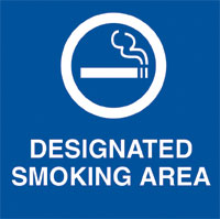 Signage, Informational, Designated Smoki