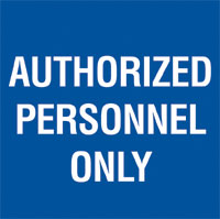 Signage, Informational, Authorize Person