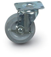 "4"" Quiet Rolling Swivel Caster + Brake"