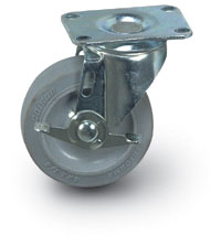 "5"" Quiet Rolling Swivel Caster + Brake"