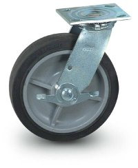 "8"" Quiet Rolling Swivel Caster + Brake"
