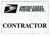 """Contractor"" Self-Expiring Badges (500/box)"