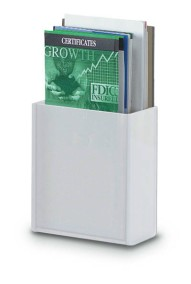 "Brochure Holder, 4""x8.5"" White"