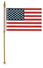 "4"" x 6"" Plastic Mounted Flags"