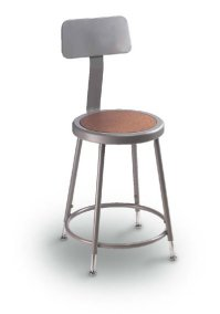 "31""- 39"" Adjust Height Stool w/ Backrest"