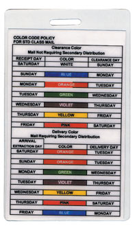Color Code Policy Card