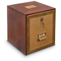 Large Collection Box Bank 11 6/8 X 11.25 X 13.25