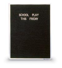 "18"" x 24"" Aluminum Frame Open Faced Letterboard"