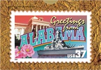 GREETINGS FROM ALABAMA POSTCARD PUZZLE (5 PACK)