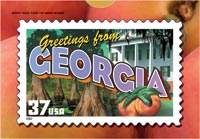 GREETINGS FROM GEORGIA POSTCARD PUZZLE ( 5 PACK )