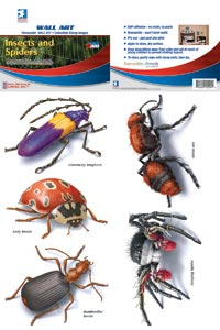 Insects and Spiders Removable Wall Art Stickers
