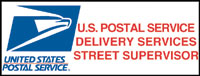 """Delivery Services Street Supervisor"" Logo Magnetic Sign"