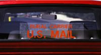 """Rural Carrier U.S. Mail"" Static Cling"