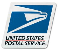 "11-3/4"" Wide x 10"" High Tri Color USPS Logo Decal"
